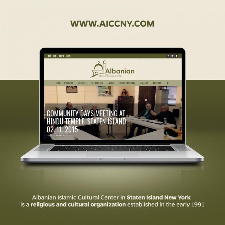Albanian Islamic Cultural Center – website design In New York