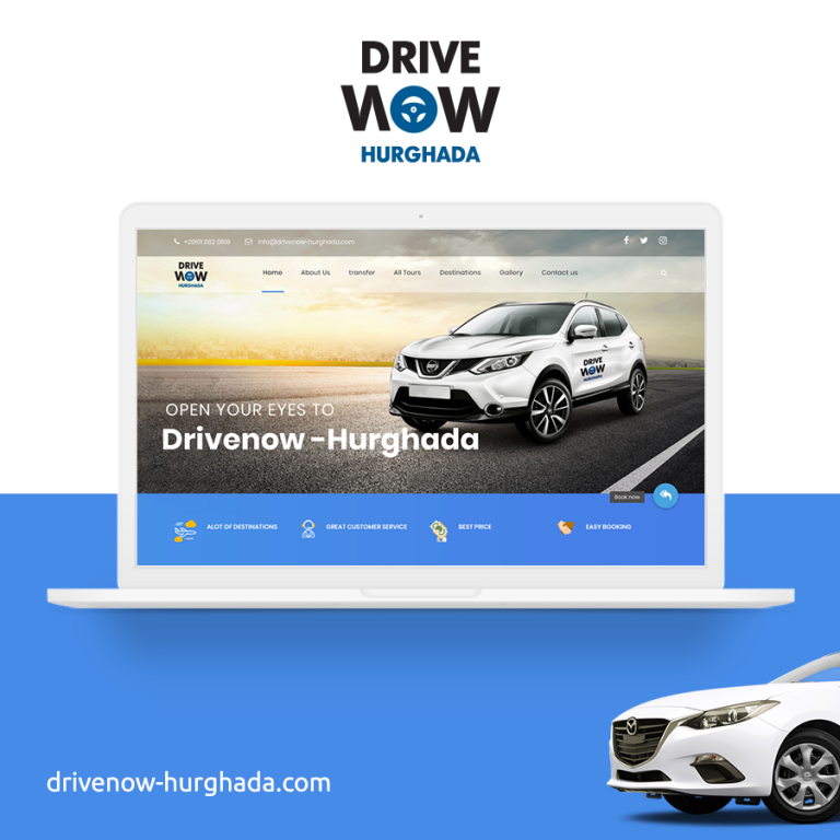Drive Now – Limousine Agency Website Design in Hurghada
